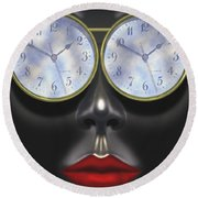 Time In Your Eyes Round Beach Towel