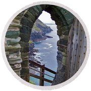 Tintagel Portal Round Beach Towel