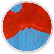 Tres Orejas Original Painting Round Beach Towel