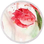 Tulip Flower Round Beach Towel