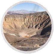 Ubehebe Crater Round Beach Towel