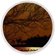 Under The Sunset Round Beach Towel