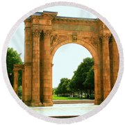 Union Station Arch Round Beach Towel