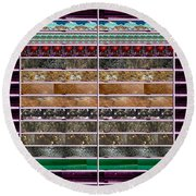 Unique Abstracts Using Multiple Rareearth Stones Crystals Textures And Patterns Round Beach Towel