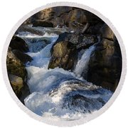 unnamed NC waterfall Round Beach Towel