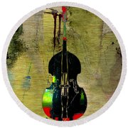Upright Bass Round Beach Towel