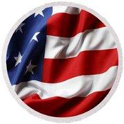 Usa Flag No.52 Round Beach Towel