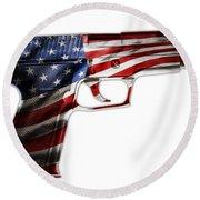 Usa Gun 1 Round Beach Towel