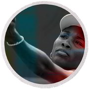 Venus Williams Round Beach Towel by Marvin Blaine