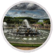 Versailles Fountain Round Beach Towel