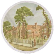 View Of Bedford Park, 1882 Round Beach Towel