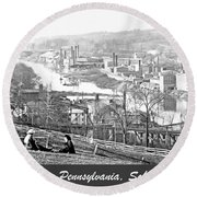 View Of Conshohocken Pennsylvania C 1900 Round Beach Towel