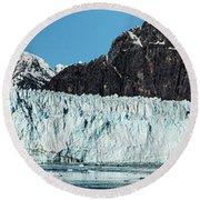 View Of Margerie Glacier In Glacier Bay Round Beach Towel