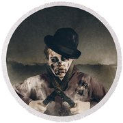 Vintage Horror. Dawn Of The Dead Hedge Round Beach Towel