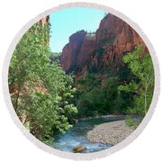 Virgin River Rapids Round Beach Towel