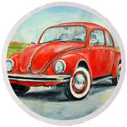 Vw Beetle Round Beach Towel