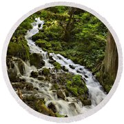 Wahkeena Creek Round Beach Towel