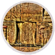 Round Beach Towel featuring the photograph Wailing Wall by Doc Braham