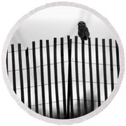 Waiting Owl Round Beach Towel