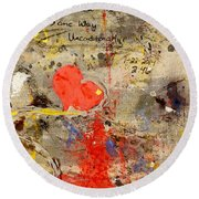 We All Bleed The Same Color II Round Beach Towel