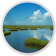 Wetlands Round Beach Towel