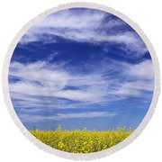 Round Beach Towel featuring the photograph Where Land Meets Sky by Keith Armstrong