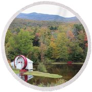 White Mountains Indian Head Nh Round Beach Towel