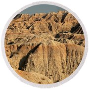 White River Valley Overlook Badlands National Park Round Beach Towel