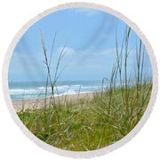 Round Beach Towel featuring the photograph Archie Carr Beach And Wildlife Refuge by Carol  Bradley