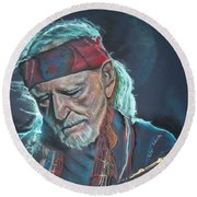 Willie Round Beach Towel by Peter Suhocke