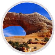 Wilsons Arch Round Beach Towel by Jeff Swan