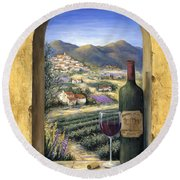 Wine And Lavender Round Beach Towel
