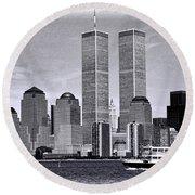 World Trade Center 3 Round Beach Towel