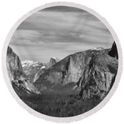 Yosemite Round Beach Towel