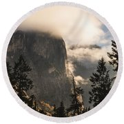 Yosemite Round Beach Towel by Muhie Kanawati