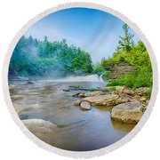 Youghiogheny River A Wild And Scenic Round Beach Towel