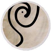 Zen Bird Round Beach Towel