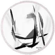 Abstract Series II Round Beach Towel by Rafael Salazar