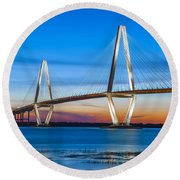 Charleston Arthur Ravenel Bridge Round Beach Towel