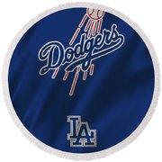 Los Angeles Dodgers Uniform Round Beach Towel
