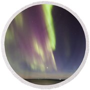 Northern Lights Iceland Round Beach Towel