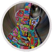 Rock N Roll Collection Round Beach Towel