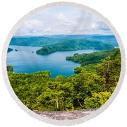 Scenery Around Lake Jocasse Gorge Round Beach Towel