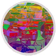 1021 Abstract Thought Round Beach Towel