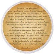 104- Theodore Roosevelt Round Beach Towel