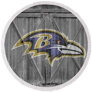 Baltimore Ravens Round Beach Towel