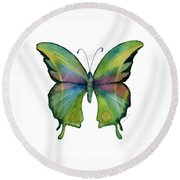 11 Prism Butterfly Round Beach Towel