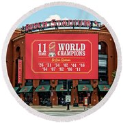 11 Time World Champion St Louis Cardnials Dsc01294 Round Beach Towel