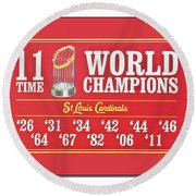 11 Time World Chapion Poster Dsc01106 Round Beach Towel