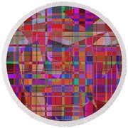 1131 Abstract Thought Round Beach Towel